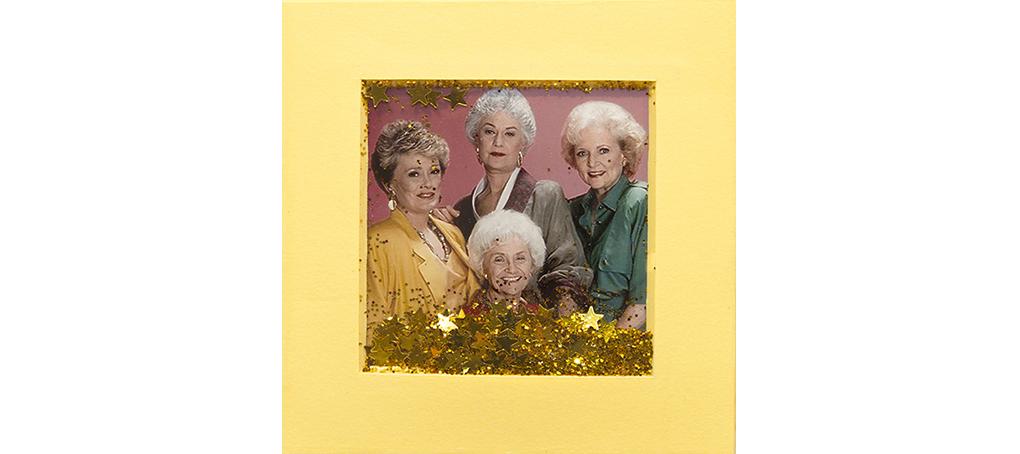 mira como brillo 04 postit glitter las chicas de oro golden girls Jose camara
