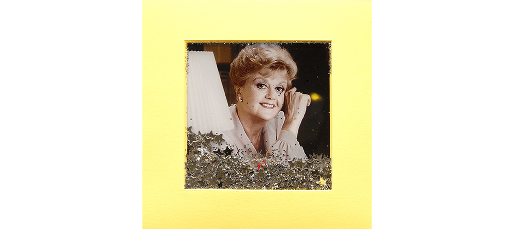 Angela Lansbury post-it art glitter Jose Cámara Mira cómo brillo 17