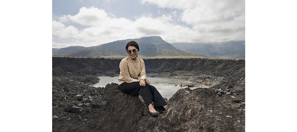 viajes prestados 01 Islandia canarias volcán fotomontaje jose camara