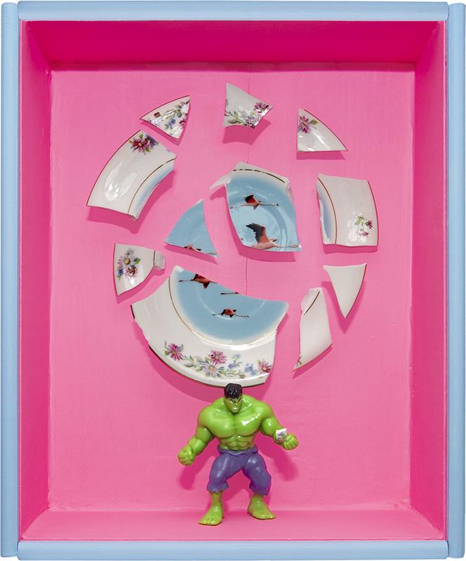 Hulk plato cerámica artefacto caja leftovers box ceramics paint
